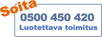Soita 0500 450 420